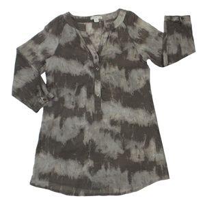 COLDWATER CREEK   Tan Printed Tunic (Size S)
